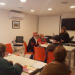 Inicio del taller para el grupo de Parkinson de Florida a cargo de la Dra. María Isabel Giudice y su equipo.